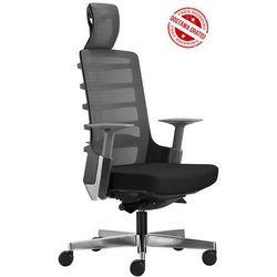Fotel biurowy Unique SPINELLY 999B - Czarny, wysuw siedziska + 21 kolorów siedziska, Unique