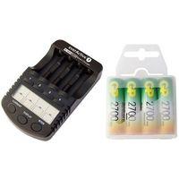 ładowarka everActive NC-1000 PLUS + 4 x R6/AA GP 2700mAh (box) z kategorii Ładowarki do akumulatorów