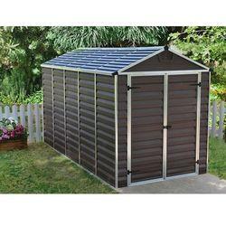 Palram Domek plastikowy ogrodowy skylight 6x12 ciemny brąz - transport gratis! (7290108130843)