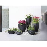 Doniczka czarna - ogrodowa - balkonowa - ozdobna - 60x60x60 cm - ohrit marki Beliani