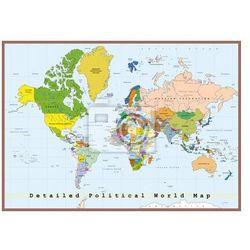 Naklejka Szczegółowa Mapa Świata polityczna, produkt marki Redro