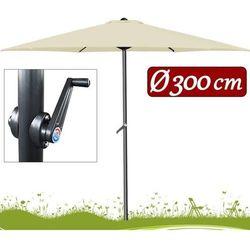 Wideshop Duży parasol ogrodowy o średnicy 300cm z korbą, kategoria: parasole ogrodowe