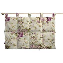 Dekoria  wezgłowie na szelkach, różowo-wrzosowe kwiaty na lnianym tle, 90 x 67 cm, londres