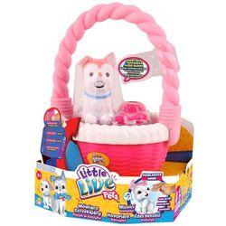 Little Live Pets, Kwiatuszek, różowy piesek w koszyku ze sklepu Smyk