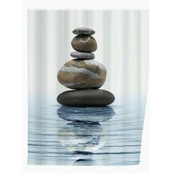Zasłona prysznicowa, tekstylna, Meditation, 180x200 cm, WENKO