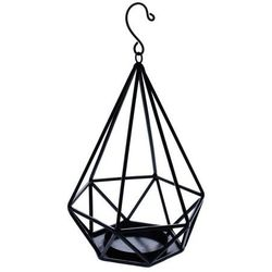 Lampion diament metalowy