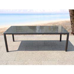 Rattan meble ogrodowe stół 220 cm italy, marki Beliani