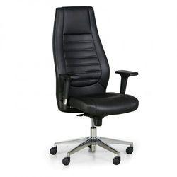 Fotel biurowy charter, prawdziwa skóra, czarny marki B2b partner