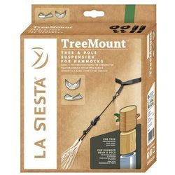 Hamaki la siesta Zestaw montażowy do hamaka - treemount black