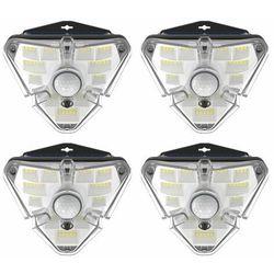 Baseus 4x zewnętrzna ogrodowa uliczna solarna lampa LED z czujnikiem ruchu czarny (DGNEN-B01)