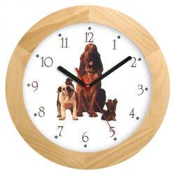 Zegar drewniany solid sfora