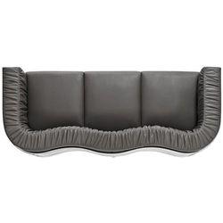 D2.design Sofa balza 3-osobowa czarna skóra modern house bogata chata