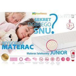 Materac lateksowy junior aegis 200x80 + poduszka 40/60 i worek disney gratis! marki Hevea