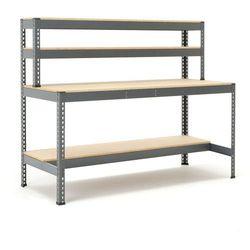 Stół warsztatowy COMBO, z półką 1/2, 1840x775x915 mm, 280972