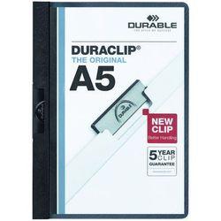Skoroszyt zaciskowy Durable Duraclip A5 30 kartek czarny 221701 (4005546210964)