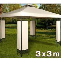 Stalowy mocny pawilon 3x3 kremowy namiot ogrodowy - kremowy marki Wideshop