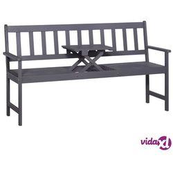 Vidaxl ławka ogrodowa ze stolikiem, 158 cm, szare drewno akacjowe (8718475622260)