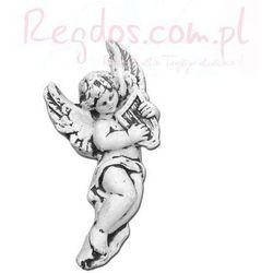 Sztukateria betonowa motyw aniołek z harfą 26cm