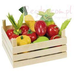 Owoce i warzywa w skrzynce, 10 elementów. (skrzynka narzędziowa zabawka)