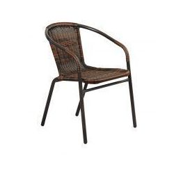 Krzesło ogrodowe technorattanowe Summer black/brown Home&Garden 191890 - produkt z kategorii- Krzesła ogrodowe
