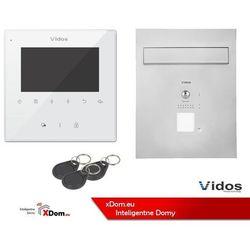 Vidos Zestaw cyfrowy s1201-skp skrzynka na listy z wideodomofonem i czytnikiem kart, m1022w monitor 4.3'' wideodomofonu