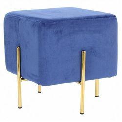 Welwetowa pufa glamour niebieska - Sohio