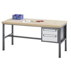 Stół warsztatowy z płytą mdf,2 szuflady, wys. 1 x 150, 1 x 180 mm marki Rau
