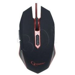 Gembird mysz musg-001-r optyczna 2400 dpi dla graczy usb czarno-czerwona