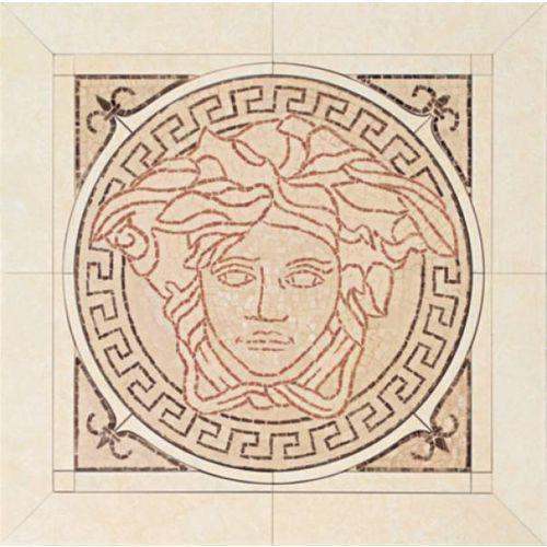 PALACE LIVING Rosoni in ceramica Rosa/Almond/Beige/Nero 50x50 (P81) z kategorii glazura i terakota