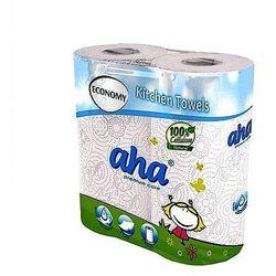 Ręcznik kuchenny AHA biały 2-warstwowy, 2 rolki