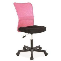 krzesło dziecięce Q-121 różowo/czarny