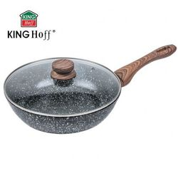 Kinghoff Patelnia / wok 28cm granit wood [kh-1171]