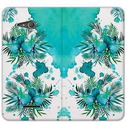 Flex Book Fantastic - Sony Xperia E4g - etui na telefon Flex Book Fantastic - turkusowa orchidea - produkt z k