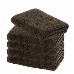 Ręcznik hotelowy grafit 50x100 cm 100% bawełna 500 gr/m2 gris marki Slevo