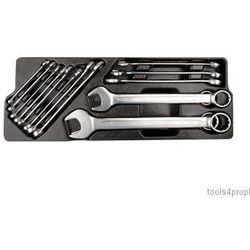 King tony Zestaw kluczy płasko-oczkowych 15 cz. 8 - 32mm, wkład do skrzynki 87408 9-1215mr03