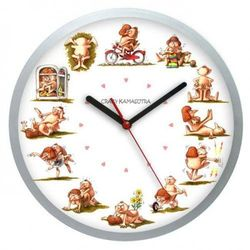 Zegar ścienny solid Crazy Kamasutra, ATE2301KS