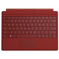Microsoft Surface 3 Type Cover GV7-00083, klawiatura i etui do tabletu, czerwona, GV7-00083