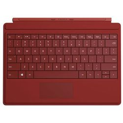 Microsoft  surface 3 type cover gv7-00083, klawiatura i etui do tabletu, czerwona