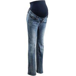 Dżinsy ciążowe, wąskie proste nogawki bonprix ciemnoniebieski