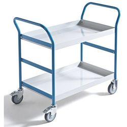 Wannowy wózek serwisowy, poj. 15 l, 2 wanny. Nośność 150 kg. Wysokiej jakości la