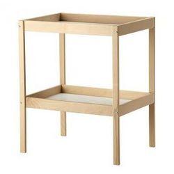 SNIGLAR Stół do przewijania, buk, biały ()