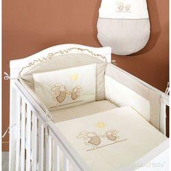 MAMO-TATO pościel 3-el Wesołe zajączki w brązie do łóżeczka 70x140cm z kategorii Komplety pościeli dla dzieci