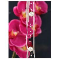 Ap Girlanda z perełkami i wstążką w kolorze kremowym - 1,2 m - 1 szt. (5901157434739)
