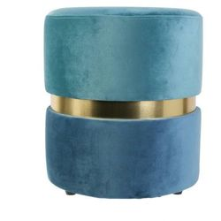 Pufa Delice Double niebieska - niebieski ||złoty ||niebieski jasny (5902385740418)