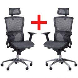 Krzesło biurowe z siatkowym oparciem lexi, 1+1 gratis, czarne marki B2b partner