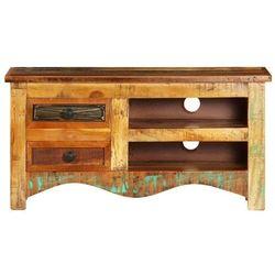 vidaXL Szafka pod TV, 80x30x40 cm, lite drewno z odzysku (8718475741619)