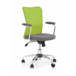 Krzesło dziecięce andy popielato-limonkowy marki Halmar