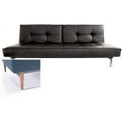 INNOVATION iStyle Sofa Splitback czarna 582 nogi jasne drewno - 741010582-741007-10-1-6