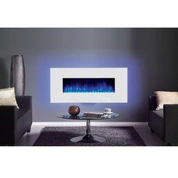 Kominek Radiance Glass 150W z ramką w kolorze białym., RADIANCE GLASS 150W Z RAMKą W KOLORZE BIAłYM
