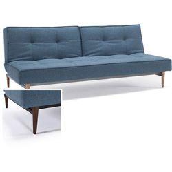 INNOVATION iStyle Sofa Splitback niebieska 525 nogi ciemne drewno - 741010525-741007-10-3-2 - sprawdź w wybranym sklepie